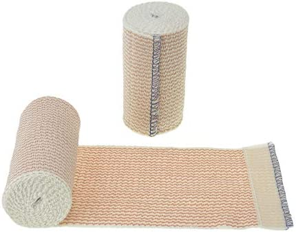 "Dealmed 10 Pack 4"" Elastic Bandage Wrap with Self-Closure, Comfort Compression Roll, 4.5 Yards Stretched"
