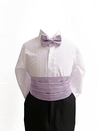 Cummerbund Lilac (Classykidzshop Solid Cummerbund and Bow Ties - Lilac Large (8 - 20))