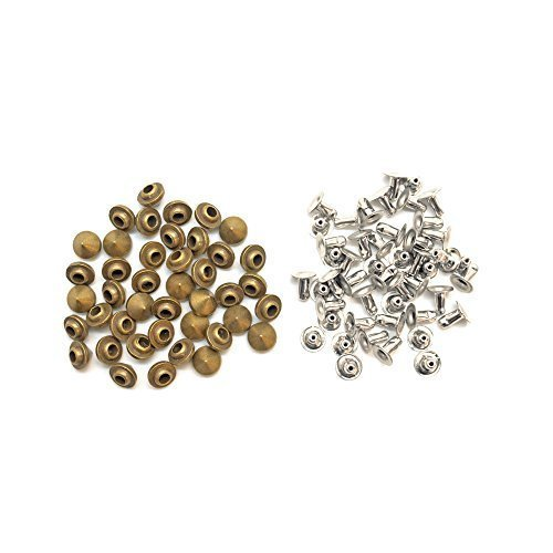 100 X 6.5Mm X 5.25Mm Brass Punk Cone Spike Studs with Pins Belt Bag Clothing Leather Craft