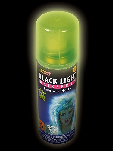 Rubies Costume R18008 Blacklight Glow Hair Spray In Can (Black Light Hairspray)