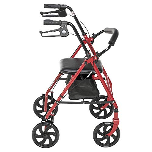 Drive Medical Four Wheel Rollator with Fold Up Removable Back ...