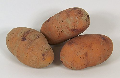 Designer Decorative Three (3) Artificial Faux Yellow Potato Vegetable by Realistic Vegetable