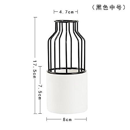 Fairy shop Ceramic Iron Wire Hydroponics Ceramic Whiteware Flowerpot on