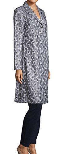 Multi Embroidered Jacket (St. John Ebele Bianco Multi Embroidered Long Jacket Women's Size 12)