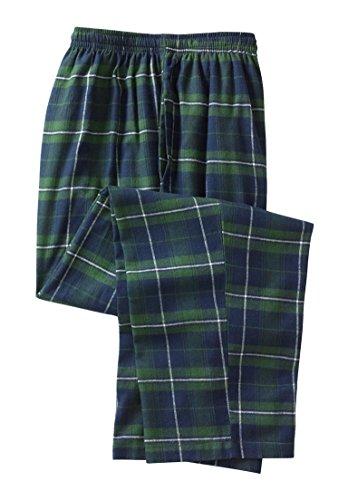 Kingsize Men's Big & Tall Flannel Plaid Lounge Pants (Balsam Plaid,Tall - Xl)