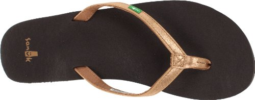 Yoga Sanuk Flop Metallic Women's Gold Flip Joy RRxa5qrp
