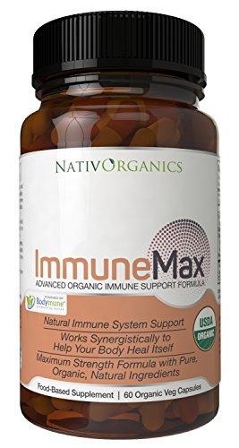 Potent Immune Support - USDA Organic Immune System Booster - Max Strength Immune Defense - The Ultimate Immune Booster - 60 Vegan Caps - 2 Months Supply - ImmuneMax