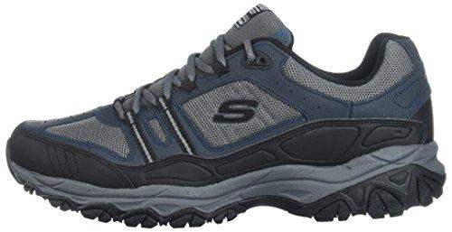 Skechers Men's Afterburn Strike Memory Foam Lace-Up Sneaker,Navy/Gray,14 4E US