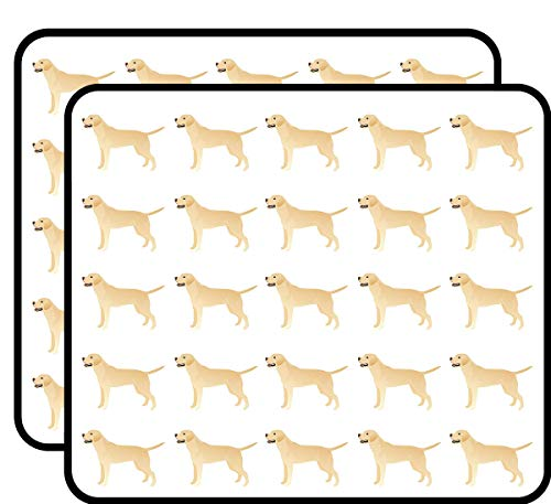 White Yellow Lab Basic Breed Silhouette Illustration 50 Pack 1