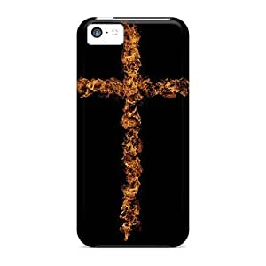 OAGNimj7371nTZvt Faddish Cross On Fire Case Cover For Iphone 5c