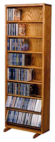 The Wood Shed 806-18 D Solid Oak CD Cabinet, Dark