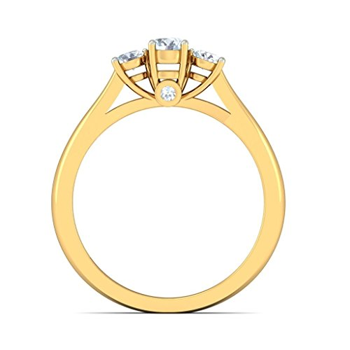 Or jaune 18 K, 0,34 CT TW Diamant Blanc (IJ | SI) en diamant