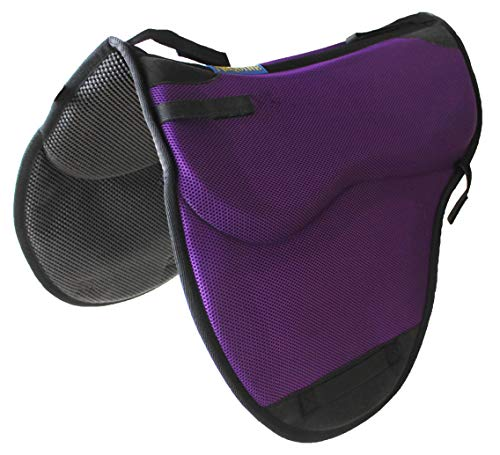 Pro Rider Horse English Endurance Treeless Non-Slip Neoprene Saddle Pad Purple 6405PR