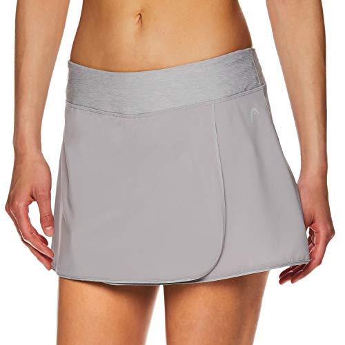 HEAD Women's Athletic Tennis Skort - Performance Training & Running Skirt - Prestige Silver Sconce, Large