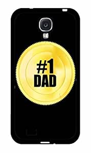 #1 Dad Gold Token 2-Piece Dual Layer Phone Case Back Cover Samsung Galaxy S4 I9500