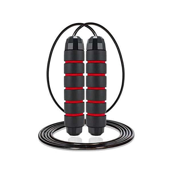 kitway-my Sauter à Corde – Corde à Sauter avec poignée antidérapante pour Les Sports d'intérieur et d'extérieur Convient…