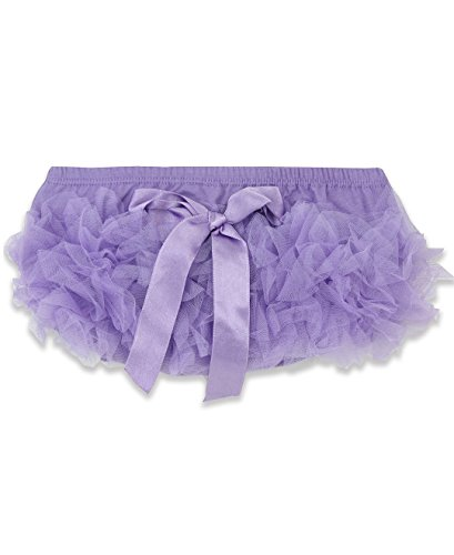 Ruffly Rumps Infant/Toddler Girls' Frilly Ruffled Bloomer w/Bow - Purple - 6-12m -
