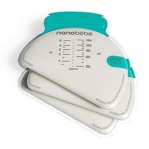 Amazon.com: nanobébé 50 bolsas de almacenamiento de leche ...