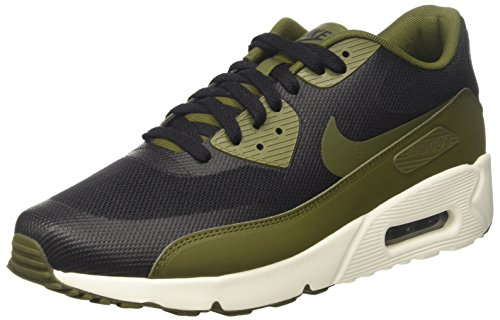 Nike Air Max 90 Ultra 2.0 Essential, Zapatillas para Hombre Negro (Black / Legion Green / Sail)