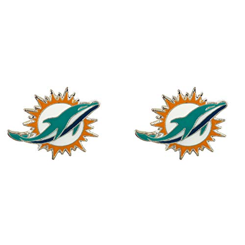 NFL Miami Dolphins Team Post Earrings