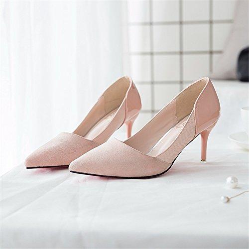 Toe Sexy Women Pink High Dress Pointy Heels Shoe Pumps Party XxPZqS
