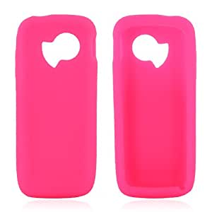 for Huawei M228 Silicone Skin Rubber Case Neon Pink!*!*