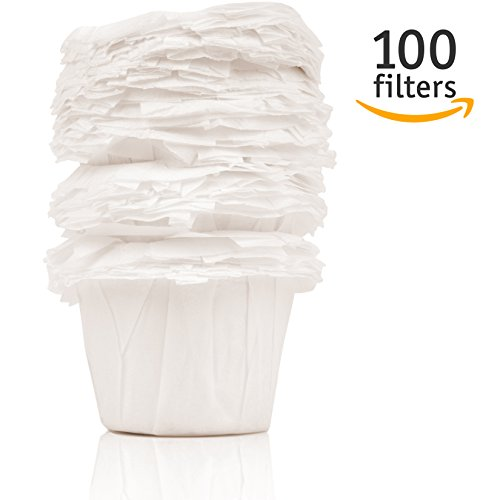 Set of 100 Disposable Paper Coffee Filters for Keurig Brewers and Other Reusable K Cups by GoodCups - Coffee Maker Kreuig