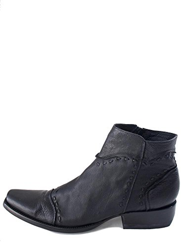 Oude Gringo Zwarte Kalf Uxmel Milano Ziplaarzen Zwart