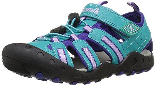 Kamik Girls' Crab Water Shoe, Teal, 5 M US Toddler
