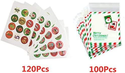 120pcs 1-24 Adhesivos de Adviento de Navidad Galletas ...