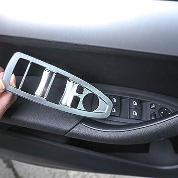 SSGLOVELIN Ajuste for BMW X1 F48 2016-2018 Fit for BMW F47 X2 2018 de Coches Accesorios 4 PC ABS Cromo Mate Puerta Interior Taz/ón Ajuste de la Cubierta Color Name : Matte Silver