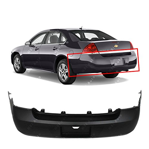 MBI AUTO Primered, Rear Bumper Cover for 2006-2011 Chevy Impala 06-11, GM1100735