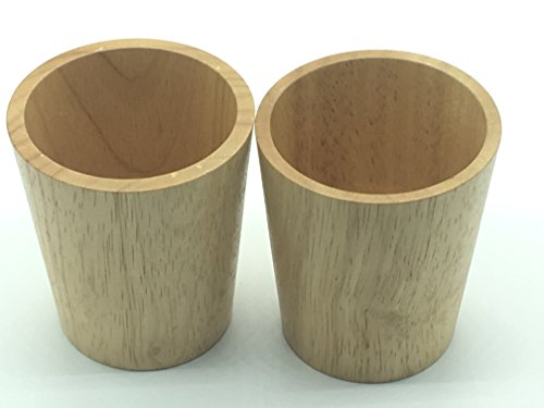 Seven one Para Wood Drinking Cup Coffee Juice Mugs Gift (Set of 2)