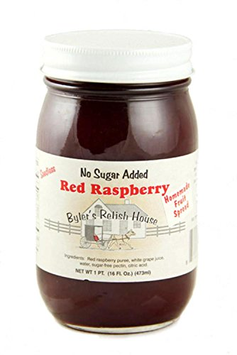 Byler's Homemade Amish Country Seedless No Sugar Added Red Raspberry Jam 16 oz.