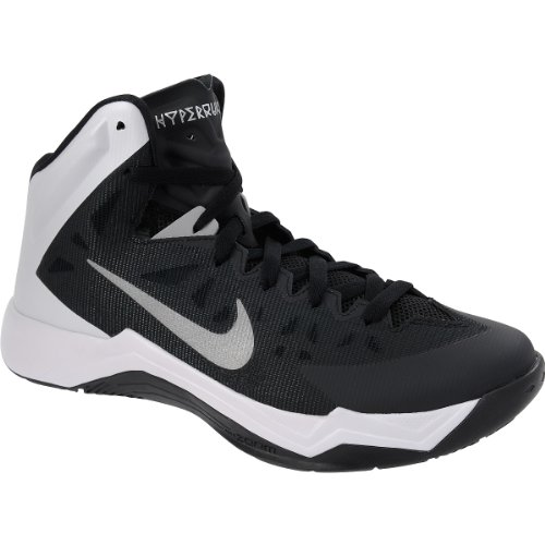 Nike Men's Zoom Hyperquickness TB Black/Metallic Silver/White Size 12 New (Nike Zoom Hyperquickness)