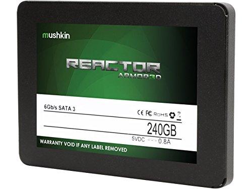 Mushkin REACTOR ARMOR3D - 240GB Internal Solid State Drive (SSD) - 2.5 Inch - SATA III - 6Gb/s - 3D Vertical MLC - 7mm - MKNSSDRE240GB-3D