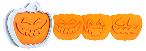 Tovolo Jack O Lantern Holiday Cookie Cutters, Templates Reverse, Dishwasher Safe - Set of 6