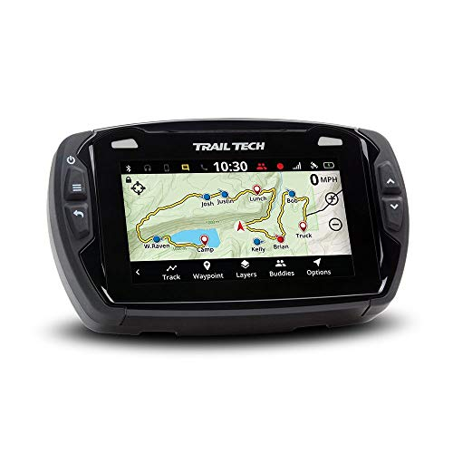 Trail Tech 922-111 Voyager Pro GPS Kit with Digital Gauge Trail Maps 4-Inch TFT LCD Touch Screen, Buddy Tracking, Handsfree ()