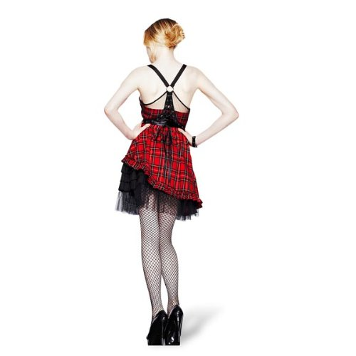 Hell Red IVA tartan DRESS Kleid tartan Bunny red rvRCw6xrq