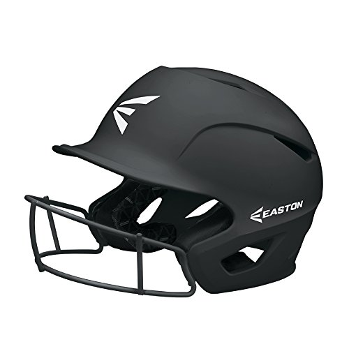 EASTON PROWESS Fastpitch Softball Batting Helmet with Mask | S / M | Matte Black | 2019 | Multi-Density Impact Absorption Foam | High Impact Resistant Lightweight Shell | BioDRI Liner | Chin Strap