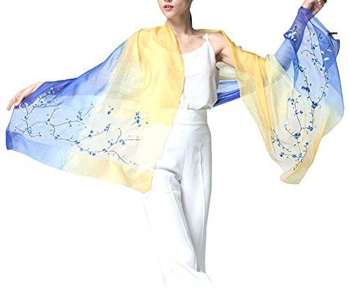 Echarpe Grosse Cou Anti 5 Uv Coton Femme Jaune Couleur Foulard En Pour Hiver Chale Long De Wrap Ete All Soie Dégradé Coloré pwnqq5OZf