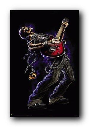 (24 x 36) Bang tu de calavera de sol tocando la guitarra Póster: Amazon.es: Hogar