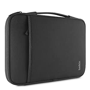 """Belkin Laptop Sleeve for Microsoft Surface Pro 3, Surface 3, Surface Pro 2, Surface Pro, MacBook Air '11, Small Chromebooks and Other 11"""" Devices (Black) by Belkin Inc."""