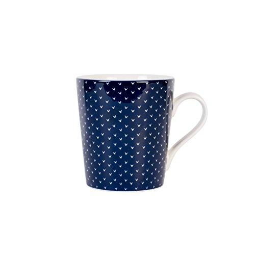 Maxwell & Williams Designer Homewares AI0057 Print Indigo Coffee Mug, 11.5 ounce, Assorted