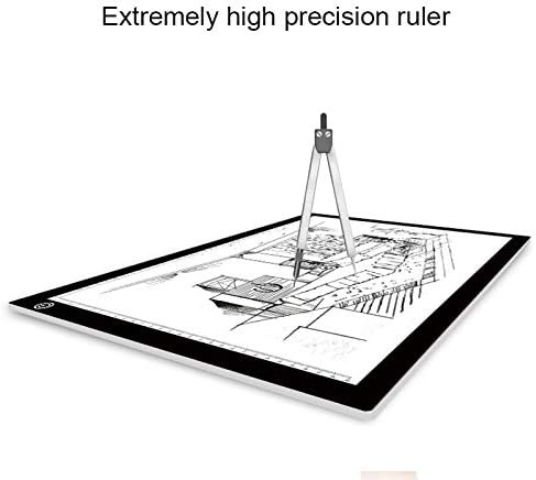 Drawing Accessories 8W 5V LED USB Stepless Dimming A3 Acrylic Scale Copy Boards Anime Sketch Drawing Sketchpad with USB Cable /& Power Adapter Digital Drawing Board