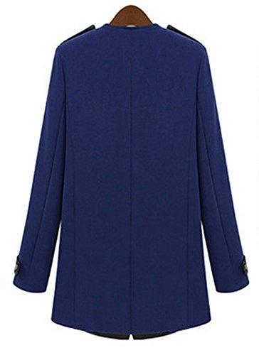 Solid Outwear Jacket Gilet Veste Revers Automne Fanessy Slim Casual Trench Coat Blazer Bleu Aile Cardigan Casual Manteaux Femme qnXXZwAzUO