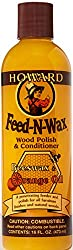 Use Feed-N-Wax to preserve wood finishes and keep the finish from drying out and cracking. Feed-N-Wax helps introduce natural oils to keep the wood from drying out, while leaving behind a protective coating of Brazilian carnauba wax and beeswax. Feed...