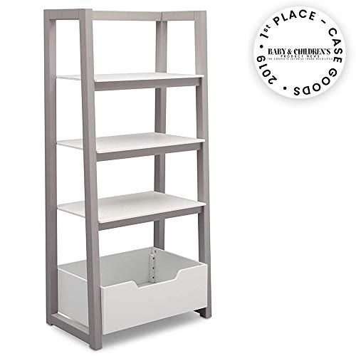 Delta Children Ladder Shelf, White/Grey
