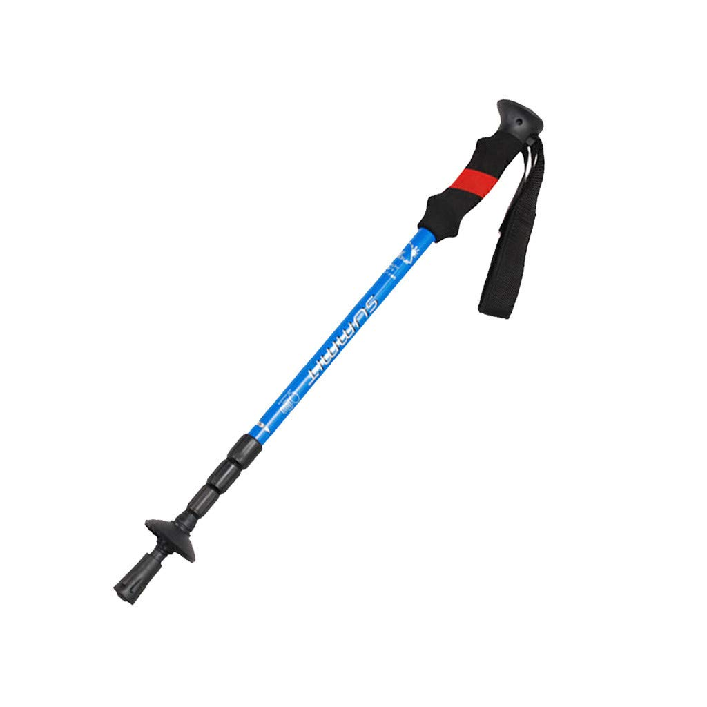 Trekking Poles | Telescopic Hiking Poles | Adjustable Walking Stick for Hiking | Comfortable EVA Handle | Aluminum Hiking Poles | Lightweight Walking Sticks | for Advanced Walkers and Hikers (Blue)