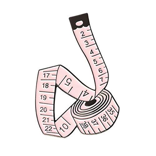 Da.Wa Creative Tape Measure Enamel Pin Buckle Enamel Needle Sewing Needle Enamel Brooch Fashion Accessories Gift for Boy Girl Kid Unisex Pink